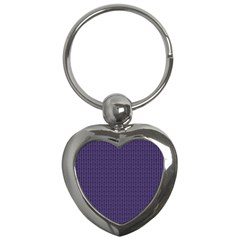 Color Of The Year 2018   Ultraviolet   Art Deco Black Edition Key Chains (heart)  by tarastyle