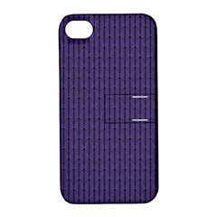 Color Of The Year 2018   Ultraviolet   Art Deco Black Edition Apple Iphone 4/4s Hardshell Case With Stand by tarastyle