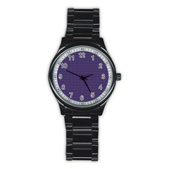 Color Of The Year 2018   Ultraviolet   Art Deco Black Edition Stainless Steel Round Watch by tarastyle