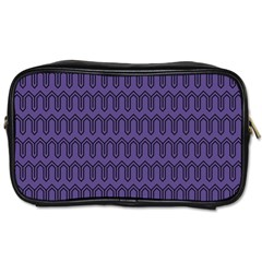 Color Of The Year 2018   Ultraviolet   Art Deco Black Edition Toiletries Bags 2 Side by tarastyle