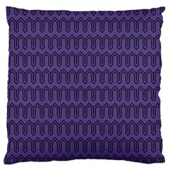 Color Of The Year 2018   Ultraviolet   Art Deco Black Edition Large Cushion Case (two Sides) by tarastyle