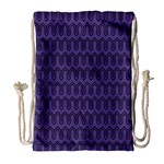 Color of the Year 2018 - Ultraviolet - Art Deco Black Edition Drawstring Bag (Large) Front