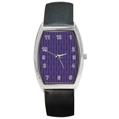 Color Of The Year 2018   Ultraviolet   Art Deco Black Edition Barrel Style Metal Watch by tarastyle