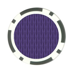 Color Of The Year 2018   Ultraviolet   Art Deco Black Edition Poker Chip Card Guard by tarastyle