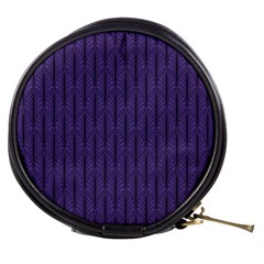 Color Of The Year 2018   Ultraviolet   Art Deco Black Edition Mini Makeup Bags by tarastyle