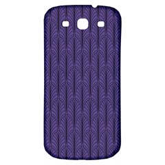 Color Of The Year 2018   Ultraviolet   Art Deco Black Edition Samsung Galaxy S3 S Iii Classic Hardshell Back Case by tarastyle