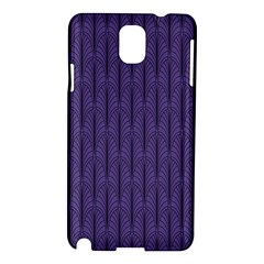 Color Of The Year 2018   Ultraviolet   Art Deco Black Edition Samsung Galaxy Note 3 N9005 Hardshell Case by tarastyle
