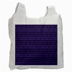 Color Of The Year 2018   Ultraviolet   Art Deco Black Edition Recycle Bag (one Side) by tarastyle