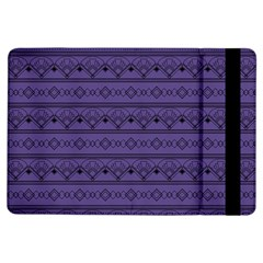 Color Of The Year 2018   Ultraviolet   Art Deco Black Edition Ipad Air Flip by tarastyle