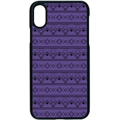 Color Of The Year 2018   Ultraviolet   Art Deco Black Edition Apple Iphone X Seamless Case (black) by tarastyle