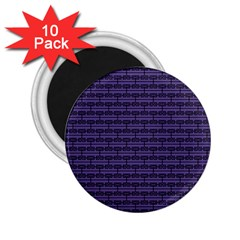 Color Of The Year 2018   Ultraviolet   Art Deco Black Edition 2 25  Magnets (10 Pack)  by tarastyle