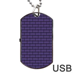 Color Of The Year 2018   Ultraviolet   Art Deco Black Edition Dog Tag Usb Flash (two Sides) by tarastyle