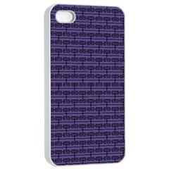 Color Of The Year 2018   Ultraviolet   Art Deco Black Edition Apple Iphone 4/4s Seamless Case (white) by tarastyle
