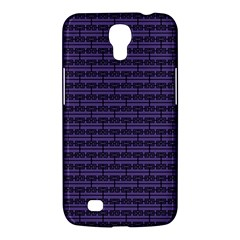 Color Of The Year 2018   Ultraviolet   Art Deco Black Edition Samsung Galaxy Mega 6 3  I9200 Hardshell Case by tarastyle