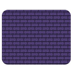 Color Of The Year 2018   Ultraviolet   Art Deco Black Edition Double Sided Flano Blanket (medium)  by tarastyle