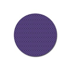 Color Of The Year 2018   Ultraviolet   Art Deco Black Edition 10 Magnet 3  (round) by tarastyle