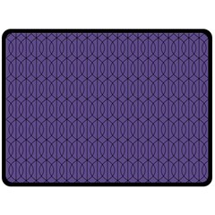 Color Of The Year 2018   Ultraviolet   Art Deco Black Edition 10 Fleece Blanket (large)  by tarastyle