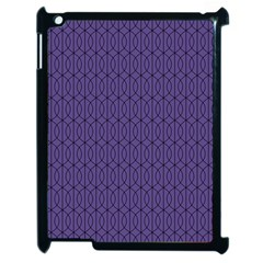 Color Of The Year 2018   Ultraviolet   Art Deco Black Edition 10 Apple Ipad 2 Case (black) by tarastyle