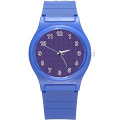 Color Of The Year 2018   Ultraviolet   Art Deco Black Edition 10 Round Plastic Sport Watch (s) by tarastyle