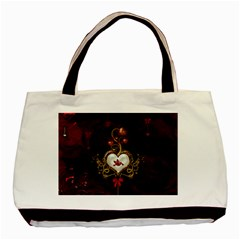 Wonderful Hearts With Dove Basic Tote Bag by FantasyWorld7