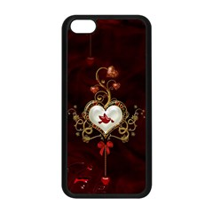 Wonderful Hearts With Dove Apple Iphone 5c Seamless Case (black) by FantasyWorld7