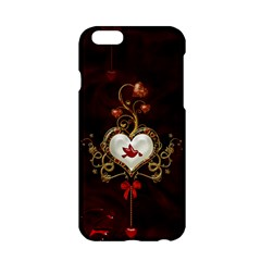 Wonderful Hearts With Dove Apple Iphone 6/6s Hardshell Case by FantasyWorld7