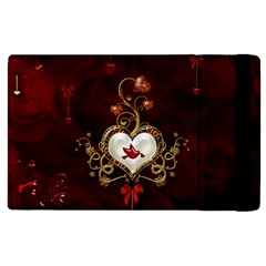Wonderful Hearts With Dove Apple Ipad Pro 12 9   Flip Case by FantasyWorld7