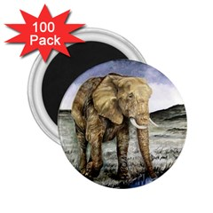 Elephant 2 25  Magnets (100 Pack)  by ArtByThree