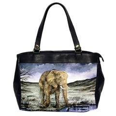 Elephant Office Handbags (2 Sides)  by ArtByThree