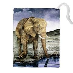 Elephant Drawstring Pouches (xxl) by ArtByThree