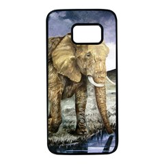 Elephant Samsung Galaxy S7 Black Seamless Case by ArtByThree
