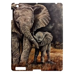 Elephant Mother And Baby Apple Ipad 3/4 Hardshell Case by ArtByThree