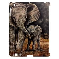Elephant Mother And Baby Apple Ipad 3/4 Hardshell Case (compatible With Smart Cover) by ArtByThree