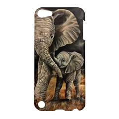 Elephant Mother And Baby Apple Ipod Touch 5 Hardshell Case by ArtByThree