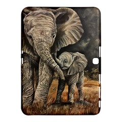 Elephant Mother And Baby Samsung Galaxy Tab 4 (10 1 ) Hardshell Case  by ArtByThree
