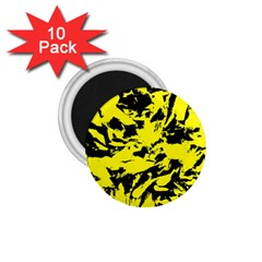 Yellow Black Abstract Military Camouflage 1 75  Magnets (10 Pack)  by Costasonlineshop