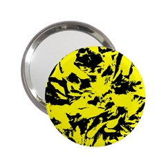 Yellow Black Abstract Military Camouflage 2 25  Handbag Mirrors by Costasonlineshop