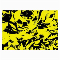 Yellow Black Abstract Military Camouflage Large Glasses Cloth (2 Side)