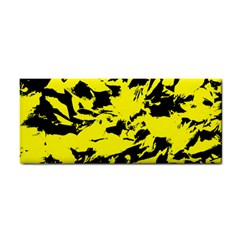 Yellow Black Abstract Military Camouflage Cosmetic Storage Cases by Costasonlineshop