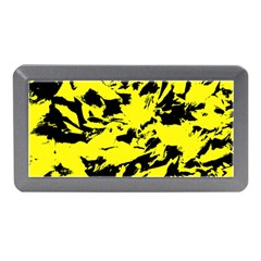 Yellow Black Abstract Military Camouflage Memory Card Reader (mini)