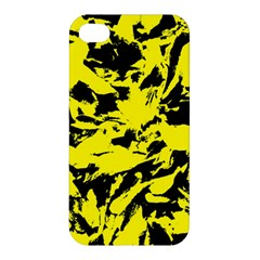 Yellow Black Abstract Military Camouflage Apple Iphone 4/4s Hardshell Case