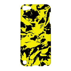 Yellow Black Abstract Military Camouflage Apple Ipod Touch 5 Hardshell Case by Costasonlineshop