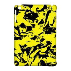 Yellow Black Abstract Military Camouflage Apple Ipad Mini Hardshell Case (compatible With Smart Cover) by Costasonlineshop