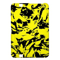 Yellow Black Abstract Military Camouflage Kindle Fire Hd 8 9  by Costasonlineshop