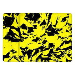 Yellow Black Abstract Military Camouflage Samsung Galaxy Tab 10 1  P7500 Flip Case by Costasonlineshop