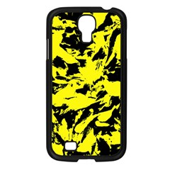 Yellow Black Abstract Military Camouflage Samsung Galaxy S4 I9500/ I9505 Case (black) by Costasonlineshop