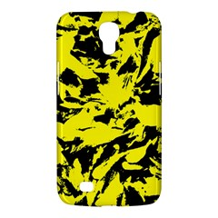 Yellow Black Abstract Military Camouflage Samsung Galaxy Mega 6 3  I9200 Hardshell Case by Costasonlineshop