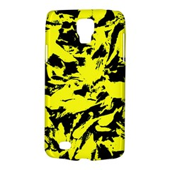 Yellow Black Abstract Military Camouflage Galaxy S4 Active by Costasonlineshop