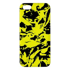 Yellow Black Abstract Military Camouflage Iphone 5s/ Se Premium Hardshell Case by Costasonlineshop