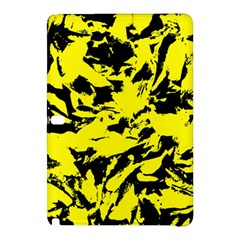 Yellow Black Abstract Military Camouflage Samsung Galaxy Tab Pro 10 1 Hardshell Case by Costasonlineshop